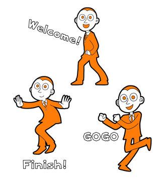 人間(男)ポーズ集08