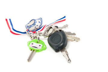 Different types of keys isolated over white