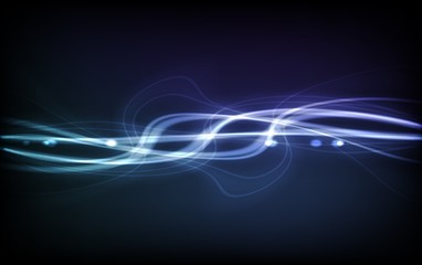 Abstract Vector Background - Transparent Lights