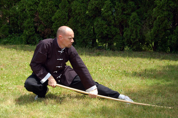 Shaolin Kung Fu Staff