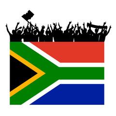 südafrikafahne publikum I