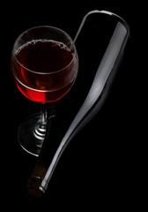 Red wine on black