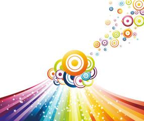Colorful refreshing rainbow wave