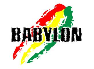 Rastafari Concept - BABYLON Flag