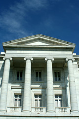 Old courthouse with blue sky
