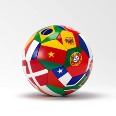 flags on ball
