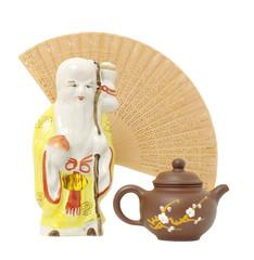 oriental composition.focus on teapot