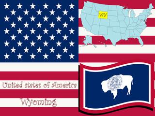wyoming state illustration