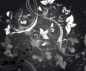 abstract floral background grunge