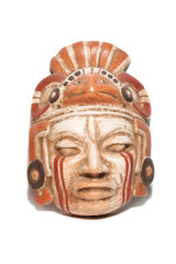 old traditional ancient mask isolated