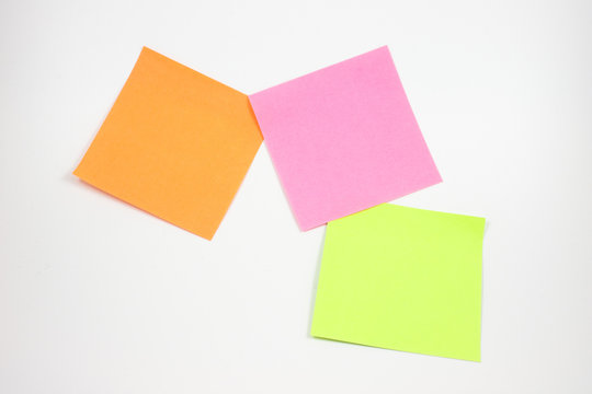 Post-Its on white background