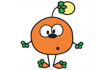 Orange crank