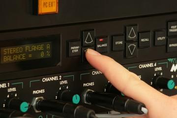 Effektgerät im Studio