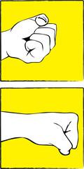 fist vector illustration