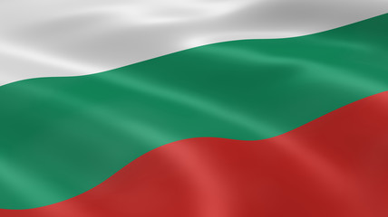 Bulgarian flag in the wind
