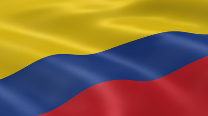 Colombian flag in the wind