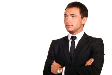 Portrait of a young hadsome businessman
