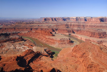 Colorado river from Dead horse point overlook,Utah