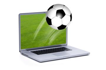Fussball am Laptop