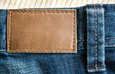 étiquette de jean