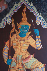 mural of thailand