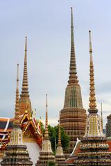 Famous Pagoda at Wat Pho, Thailand
