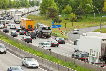 Rush Hour - Stau auf dem Autobahn