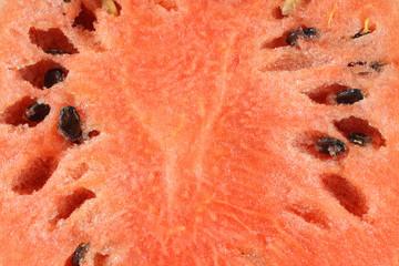 Close view of a cut watermelon