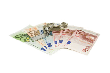 Euro and the keys to the apartment