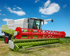 Fototapete - combine harvester