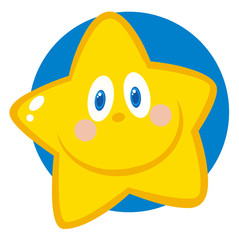 Vector Illustration Of Smiling Star