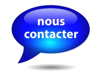 "Bouton Web Bulle ""NOUS CONTACTER"" (contact service clients info)"