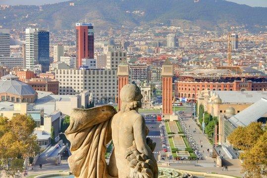 vue panoramique sur barcelone