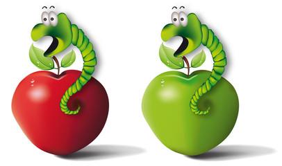 robak_jablko