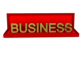 "Gift box with word ""business"""