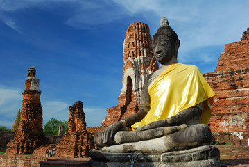 Mahatad temple Ayuttaya Thailand