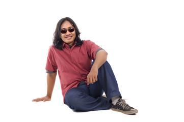Long Hair Man Relax