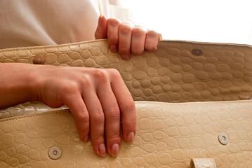 Woman and bag