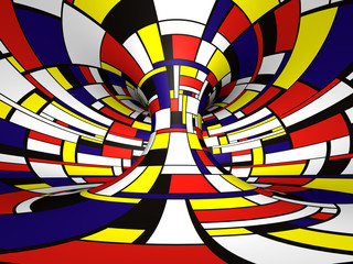 Abstract 3D Mondrian style