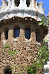 Fragment of tower at park Guell