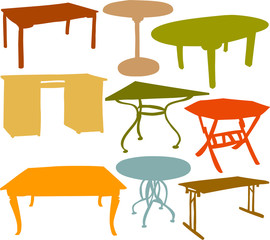 Set of a various tables