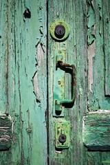 Antike Holztür