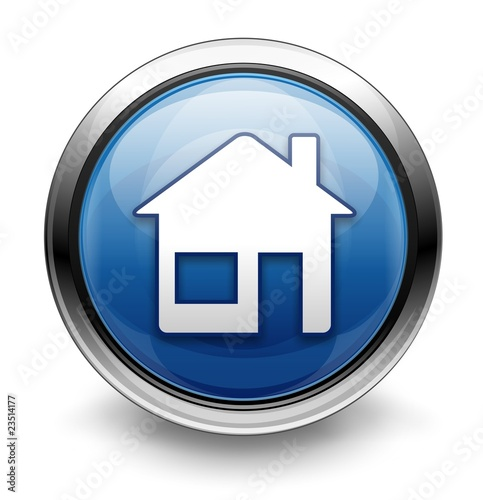 """Blue home icon/button"" Stock photo and royalty-free ..."