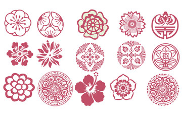 collection of flower buttons
