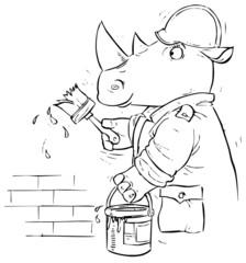 Rhino house painter
