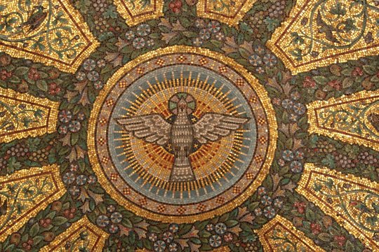 Deckenmosaik in Taufkapelle