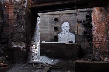 Keuken foto achterwand Oud Ziekenhuis Beelitz Bildnis im Keller