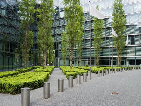 modern sidewalk park