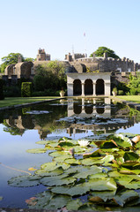 gardens and lake of Walmer Castle in Deal Kent UK