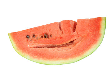 A Big Slice Of  Red Watermelon